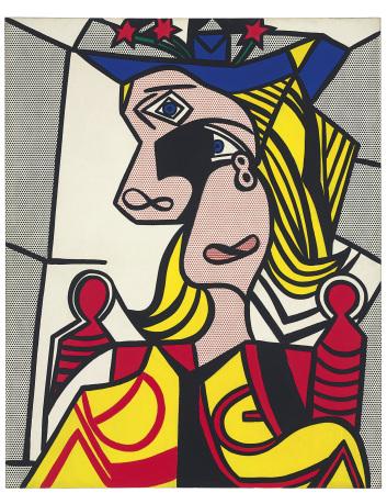 Woman with Flowered Hat, de Roy Lichtenstein (1923-1997)